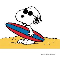 Snoopy clipart summer.