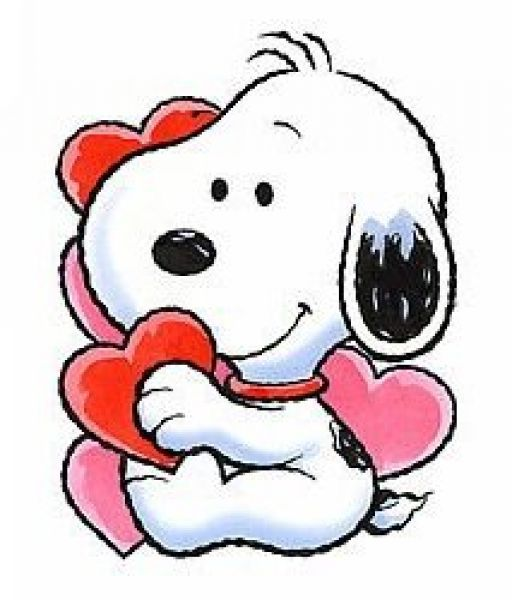 valentines clipart snoopy