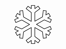 christmas tree clipart black and white snowflake