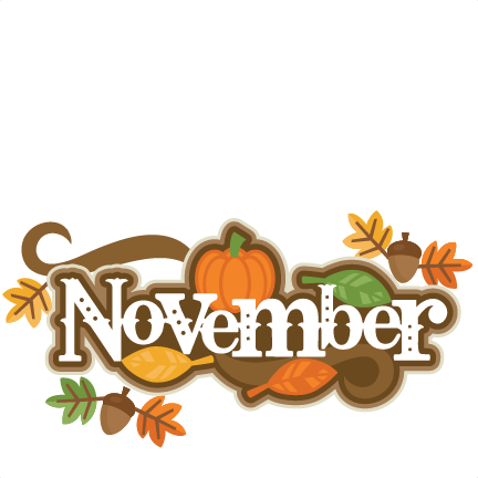 November clipart decoration.