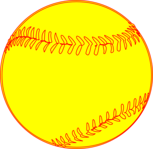 Softball clipart clear background.