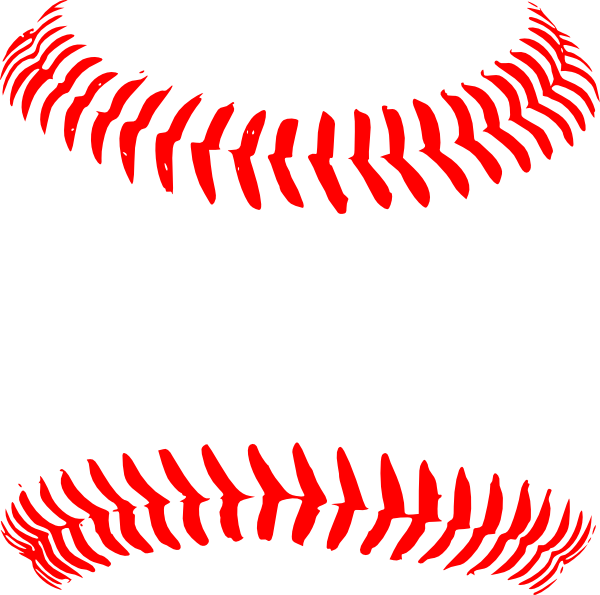 baseball laces clipart silhouette