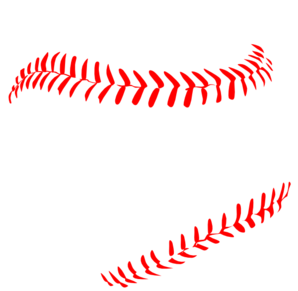 baseball laces clipart straight