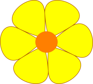 flowers clipart yellow