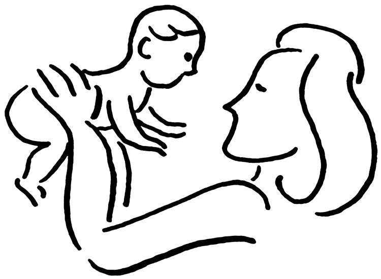 baby clipart mother