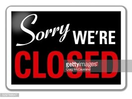sorry clipart closed