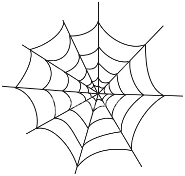 spider web clipart vector