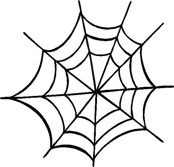 Spider clipart black and white simple.