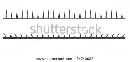 Spikes clipart road.