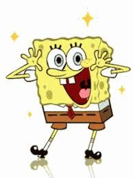 Spongebob clipart animasi bergerak power point.