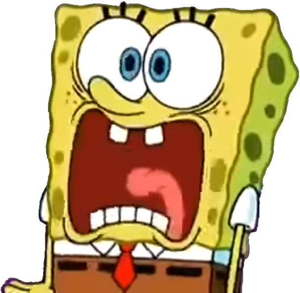 Spongebob clipart scared.