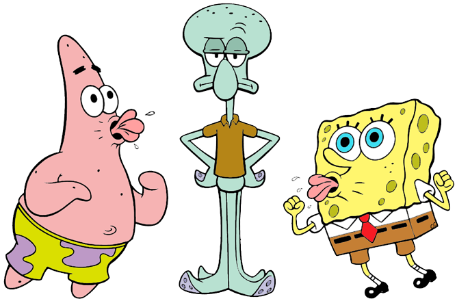 Spongebob clipart squidward.