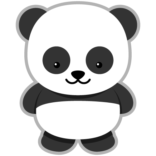 panda clipart transparent background