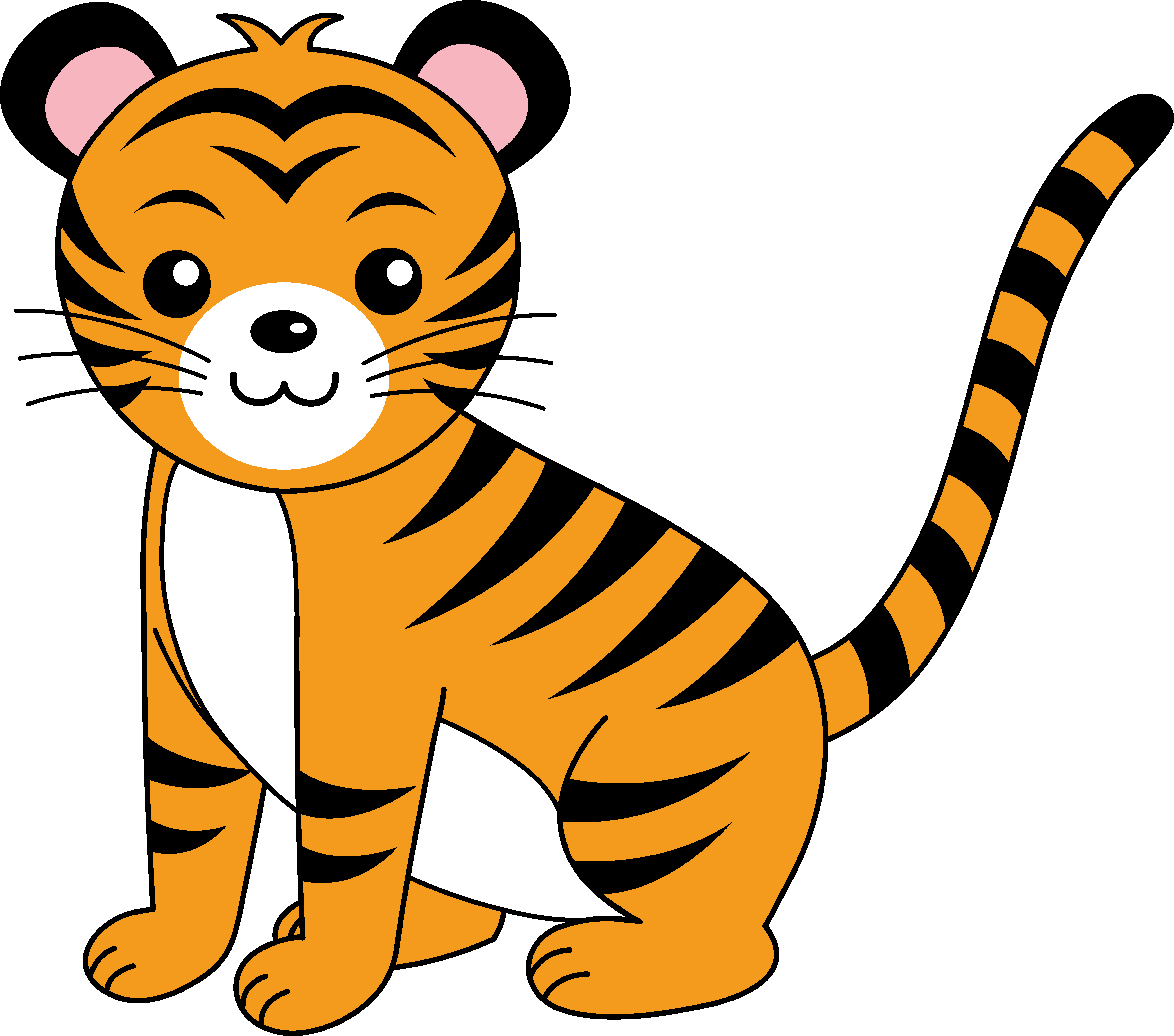 tiger clipart simple