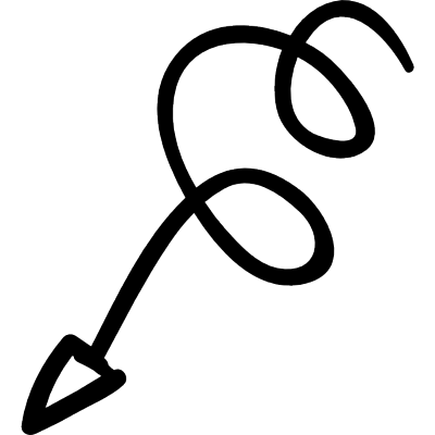 Squiggly clipart arrow.