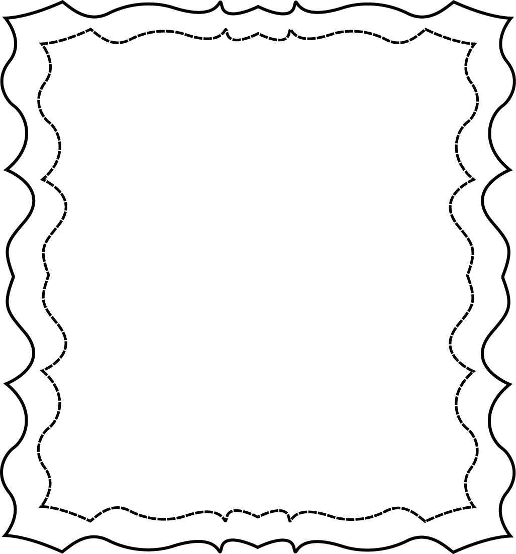 Squiggly clipart dividing line.