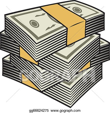 clipart money stack