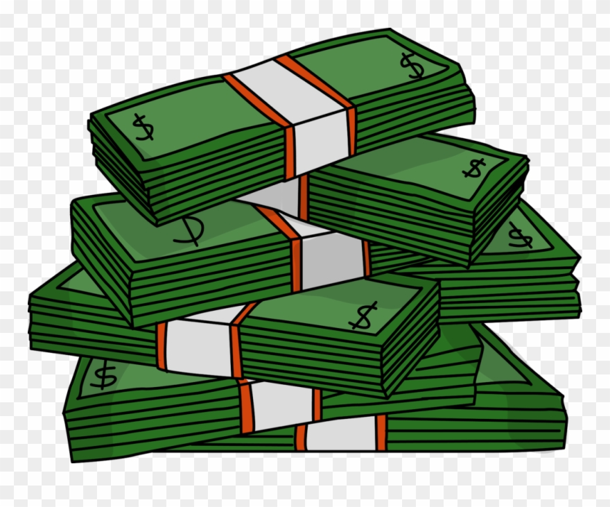 money clipart stack
