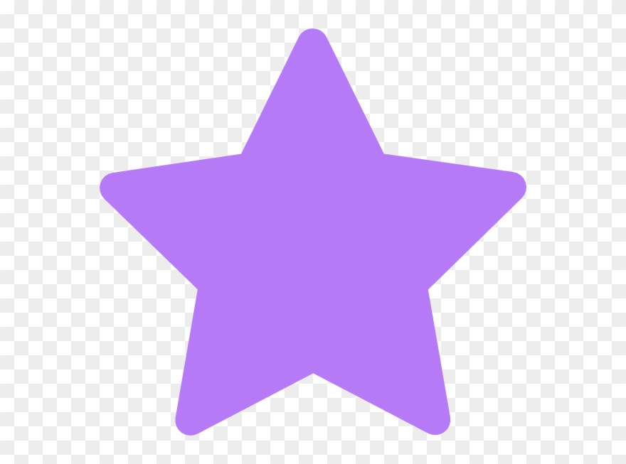 Clipart star purple.