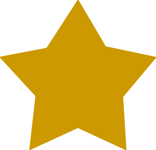 gold star clipart vector