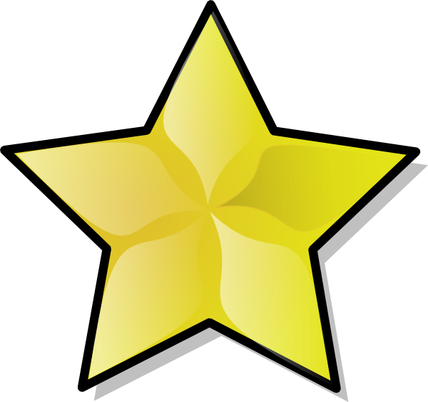 gold star clipart hollywood