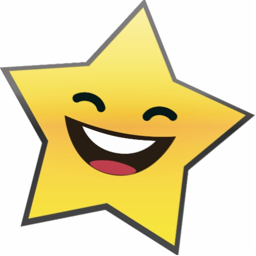 clipart smiley face star