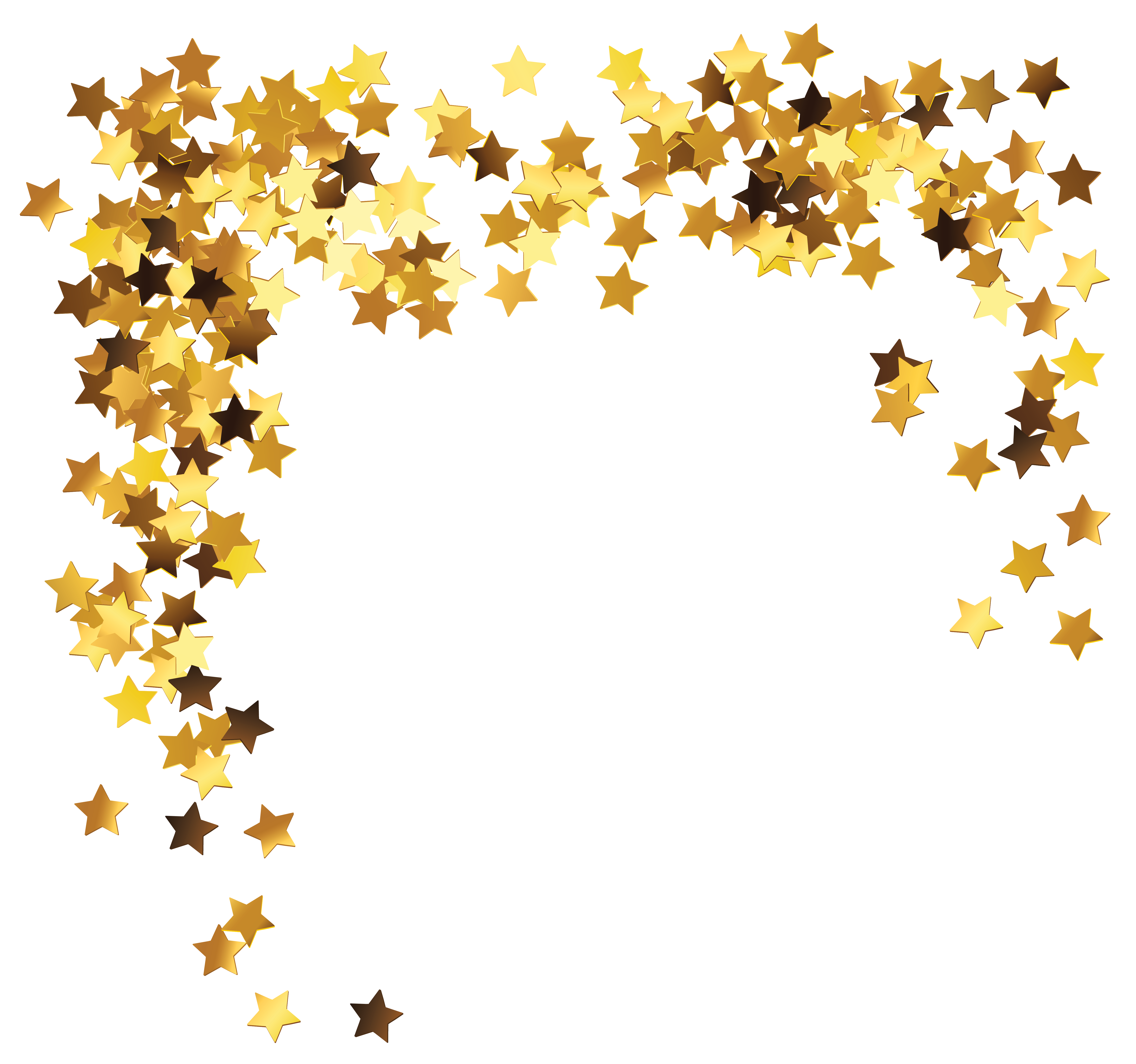 gold star clipart cluster