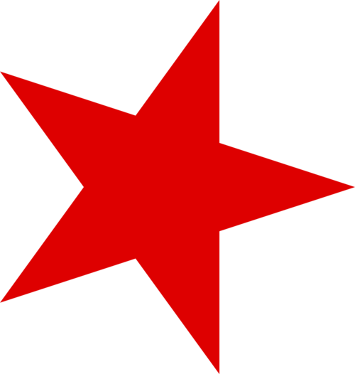 Star clipart red.