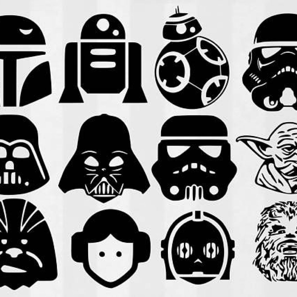 Starwars clipart outline.