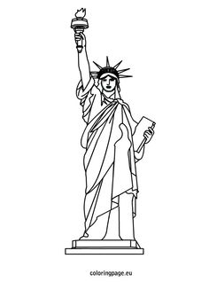 statue of liberty clipart easy