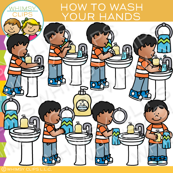 wash hands clipart