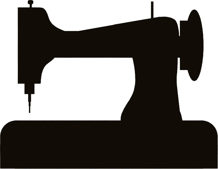 sewing machine clipart vector