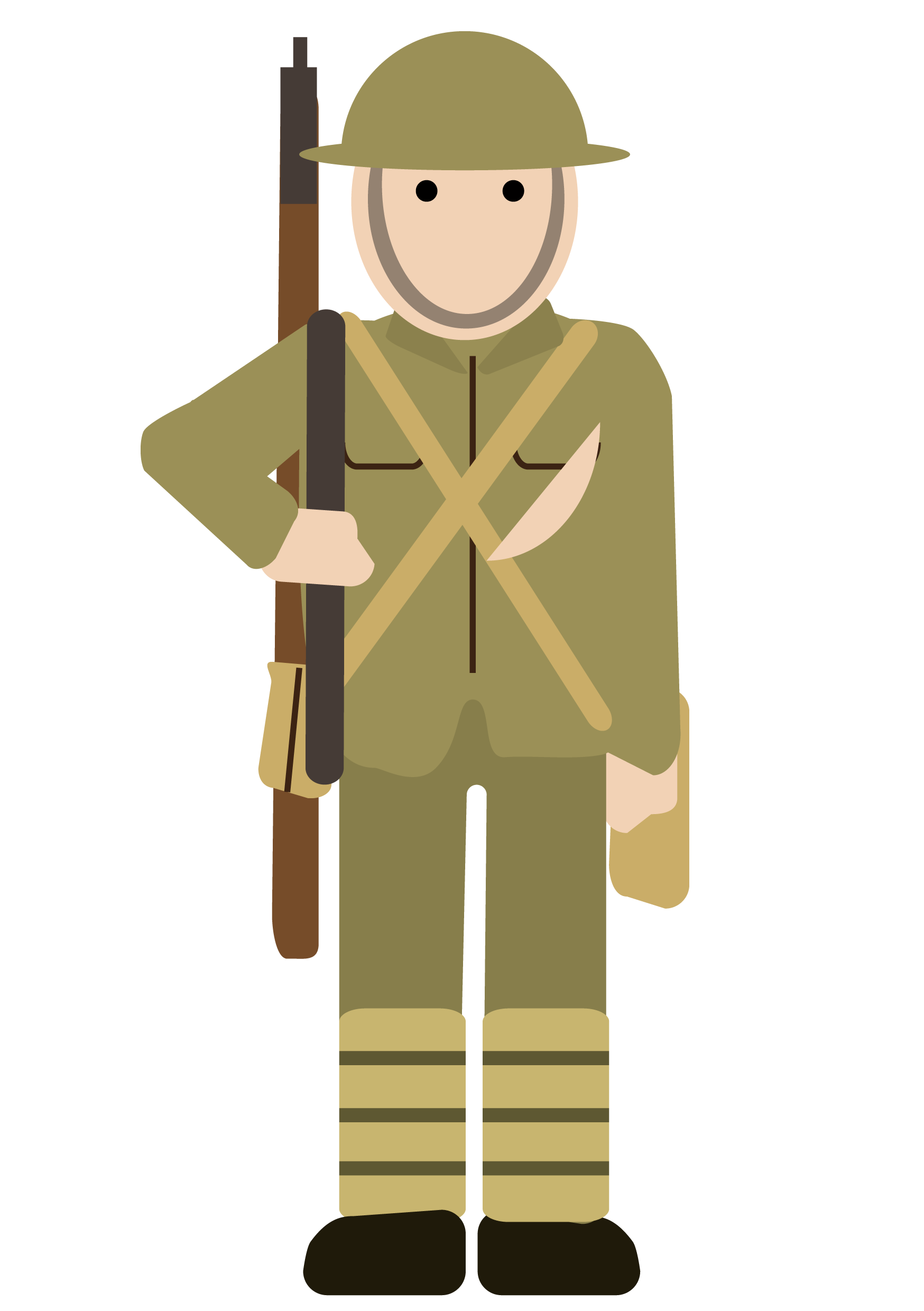 soldier clipart easy