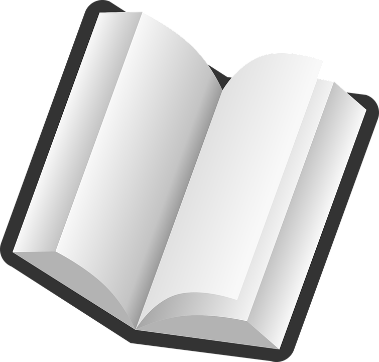Story clipart opened book.