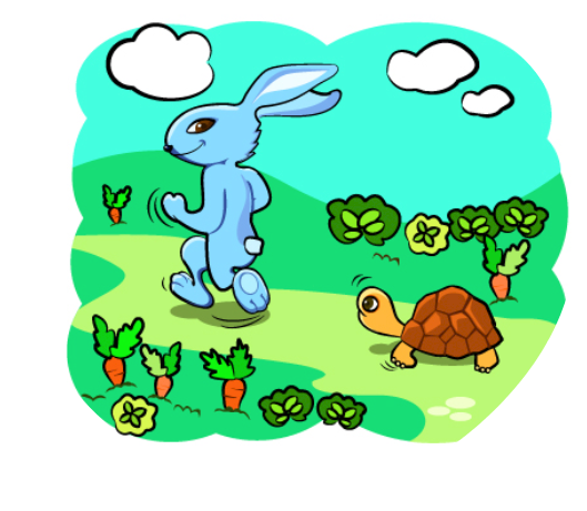 Story clipart rabbit and tortoise.