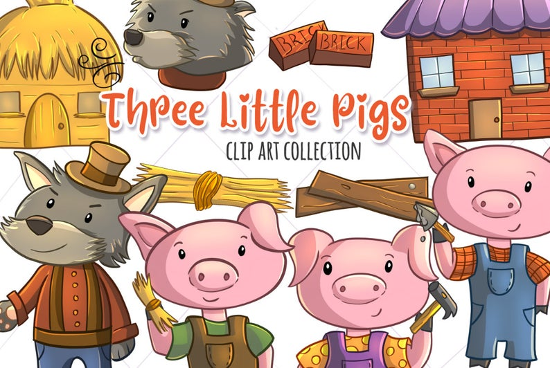 Straw clipart little pigs.