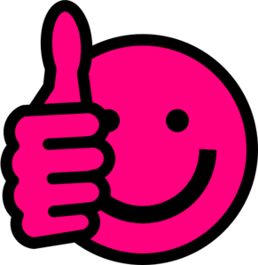 clipart smiley face pink