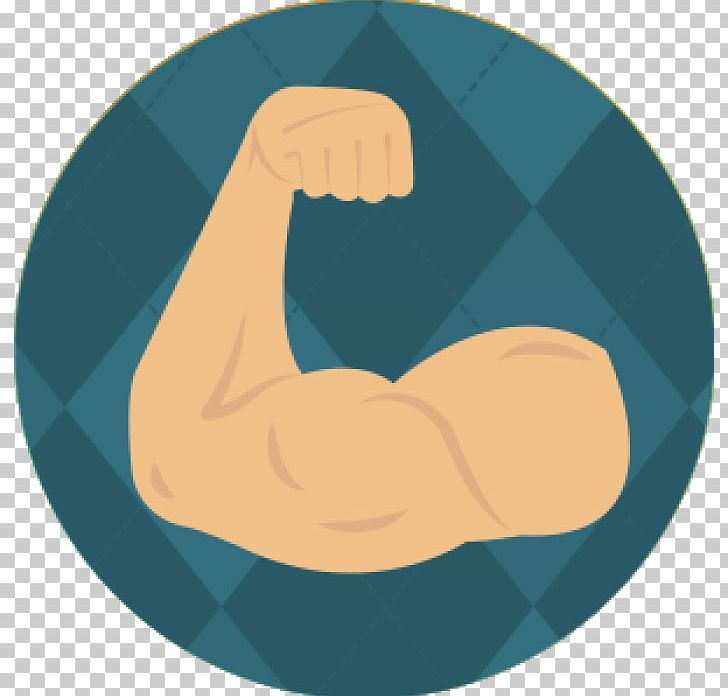 Strength clipart muscled arm.