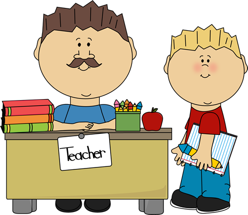 Students clipart student teacher.