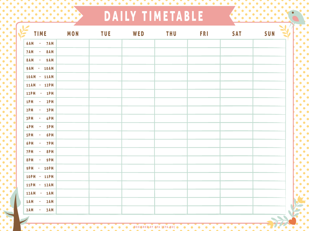 Study clipart study timetable.