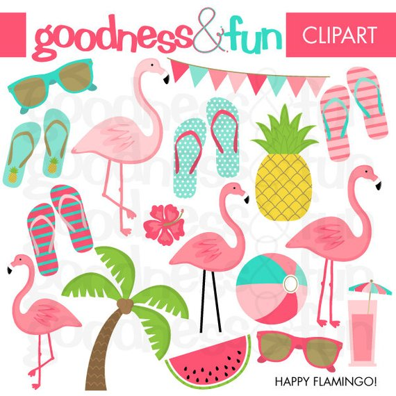 Summer clipart instant download.