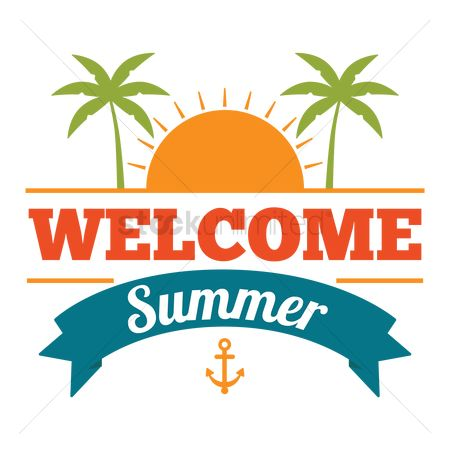 Summer clipart welcome.