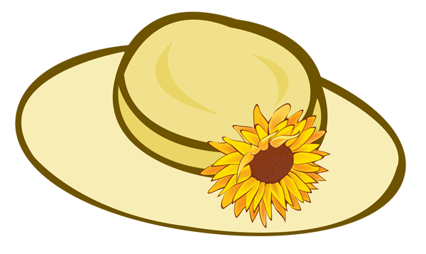 Summer clipart hat.