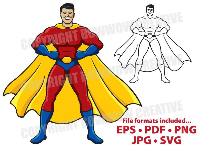 Superhero clipart adobe illustrator.