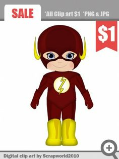 Superheroes clipart baby flash.