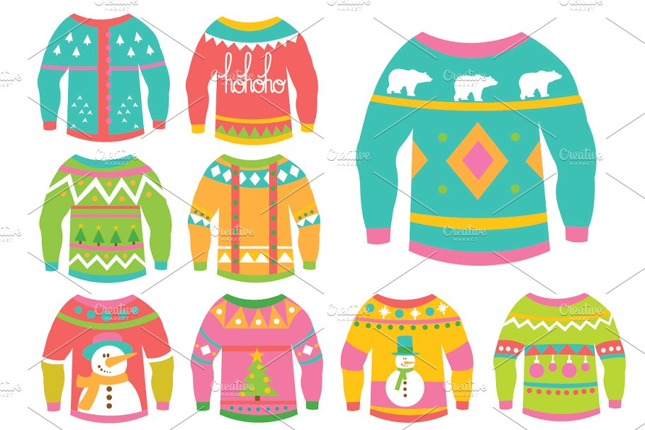 ugly christmas sweater clipart scrapbook