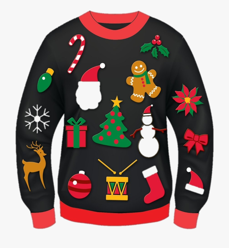 ugly christmas sweater clipart red