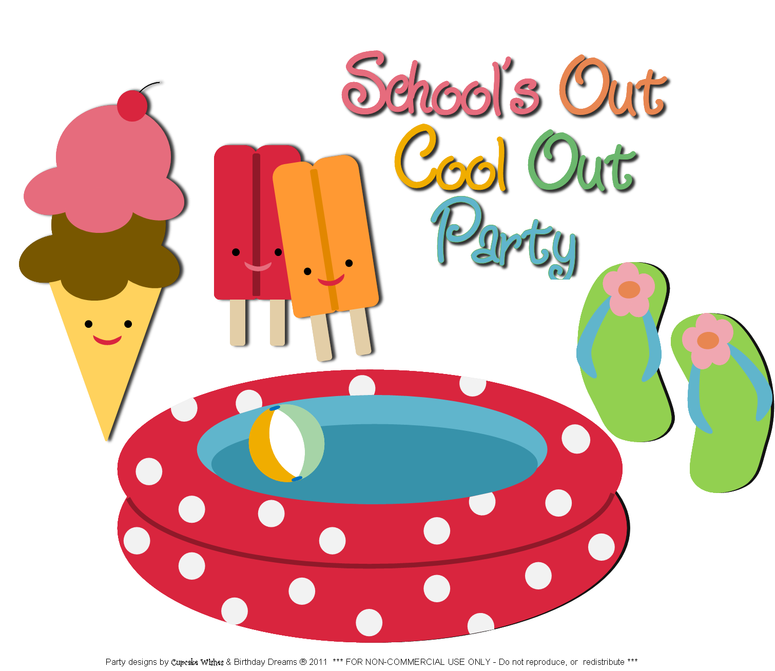 pool party clipart summer