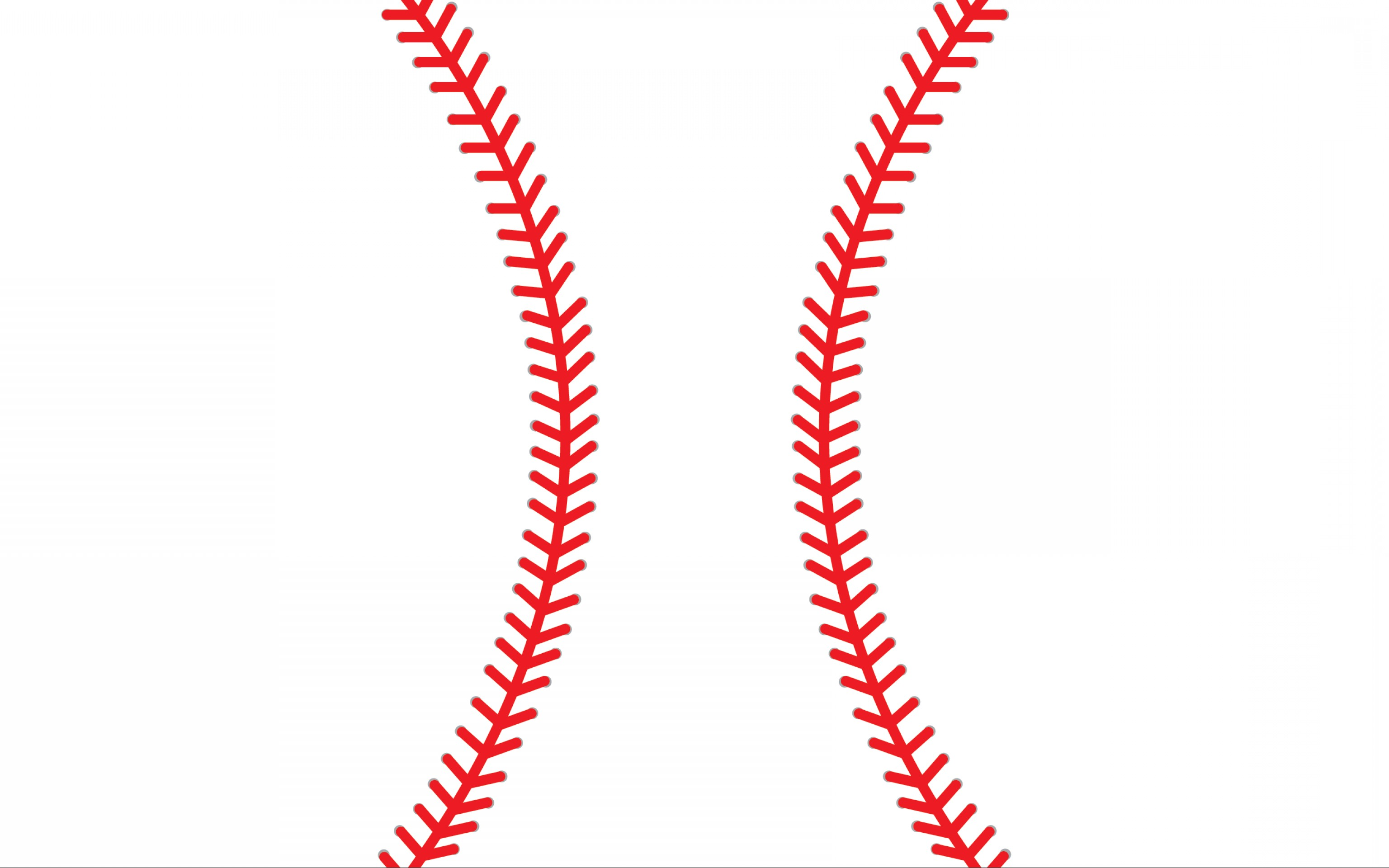 baseball laces clipart curved