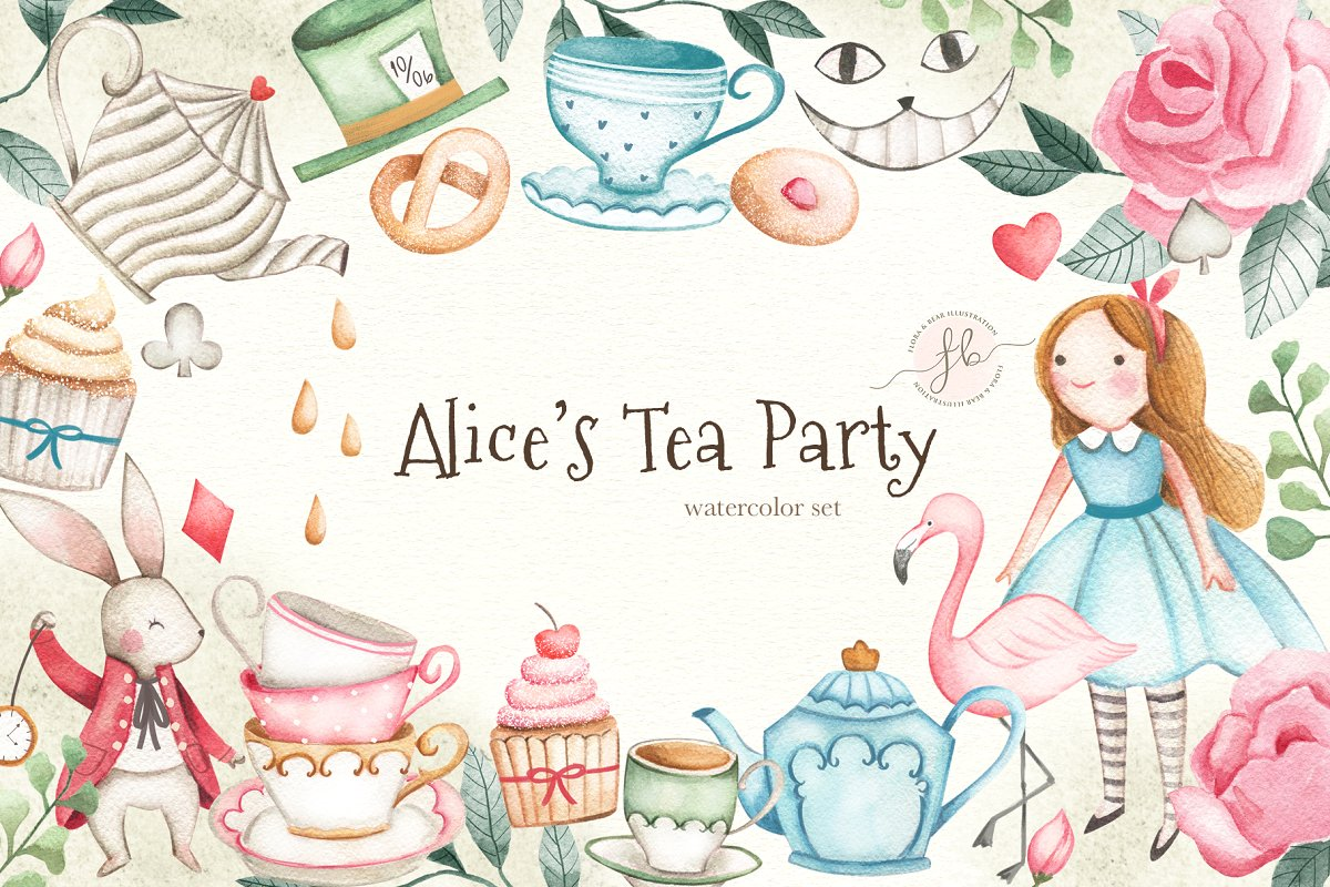 Party clipart alice.